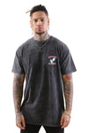 WNDRR Risky Custom Fit Tee Washed Black Front