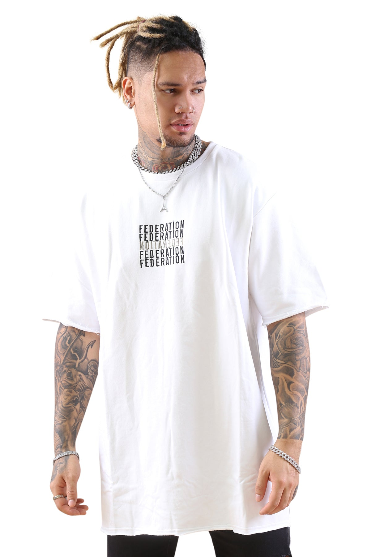 Federation Street Top Backwards White Front