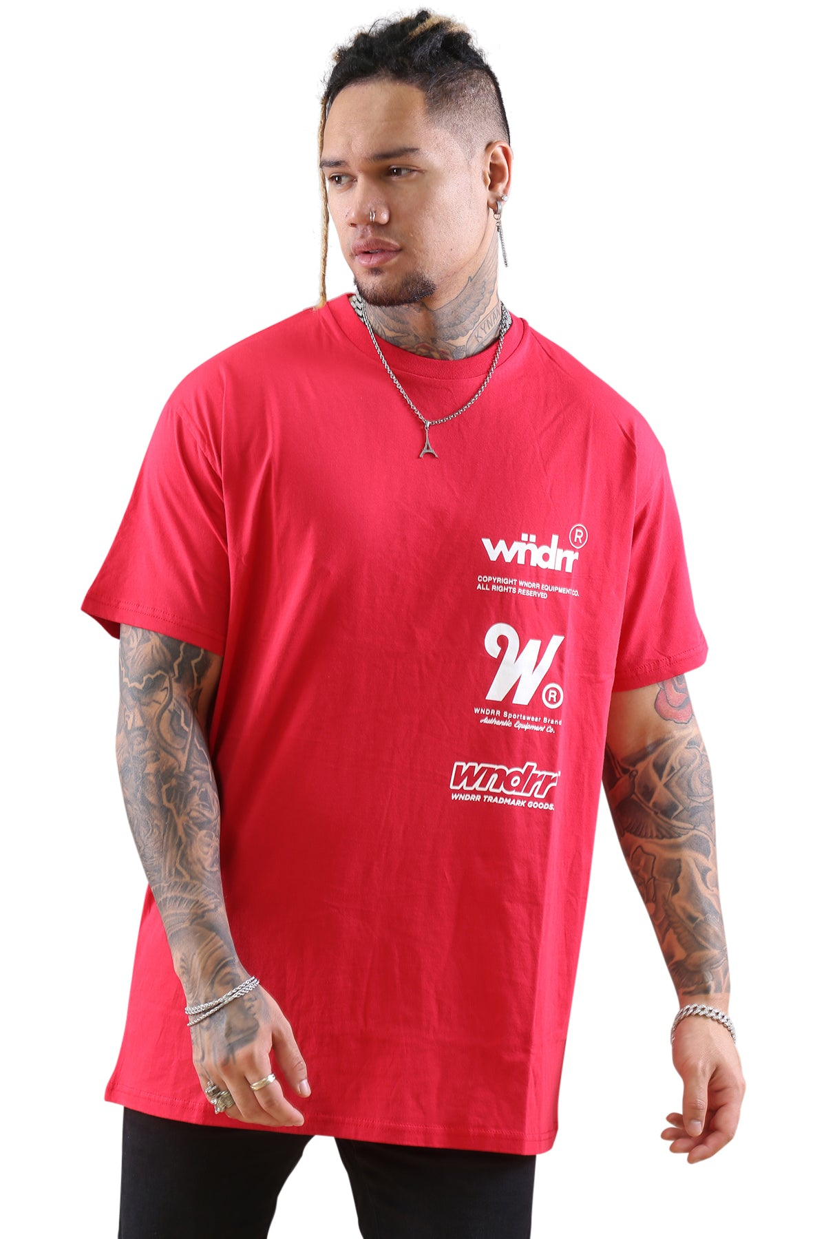 WNDRR Paradox Custom Fit Tee Red Front