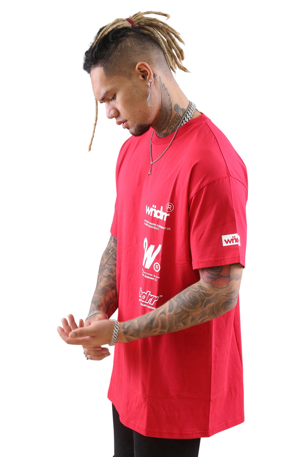 WNDRR Paradox Custom Fit Tee Red Angle