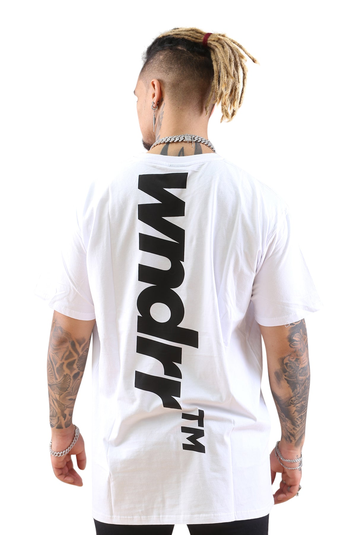 WNDRR Backlash Custom Fit Tee White Back