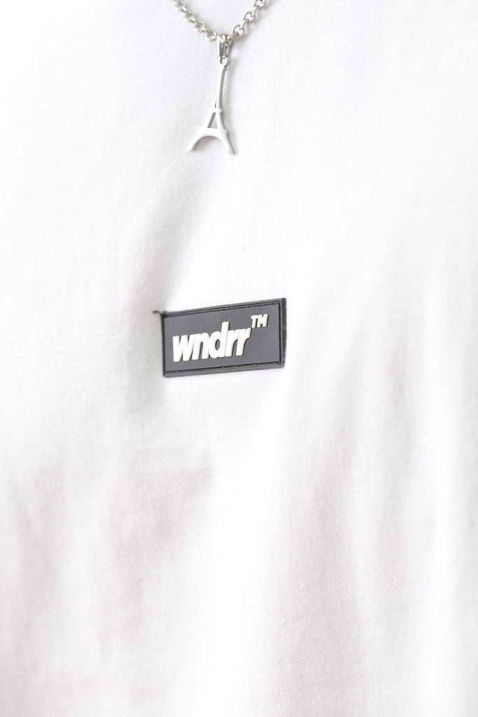 WNDRR Backlash Custom Fit Tee White Detail 2