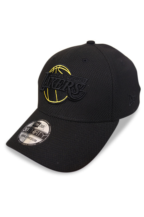 New Era 3930 Lakers Black Neon Pop Angle