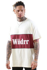WNDRR Lynch 3 Panel Custom Fit Tee Off White Front