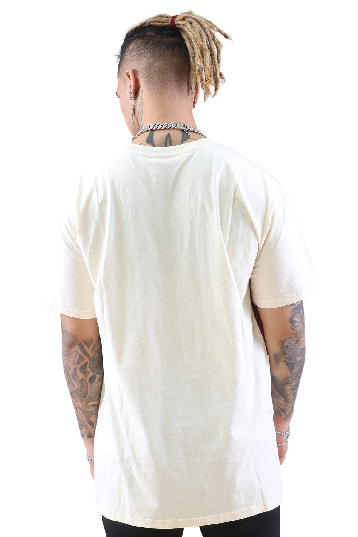 WNDRR Lynch 3 Panel Custom Fit Tee Off White Back