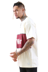 WNDRR Lynch 3 Panel Custom Fit Tee Off White Angle 2