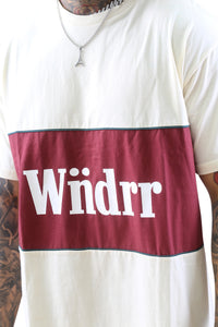 WNDRR Lynch 3 Panel Custom Fit Tee Off White Detail