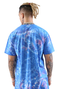 WNDRR Steel Tie Dye Custom Fit Tee Blue Back