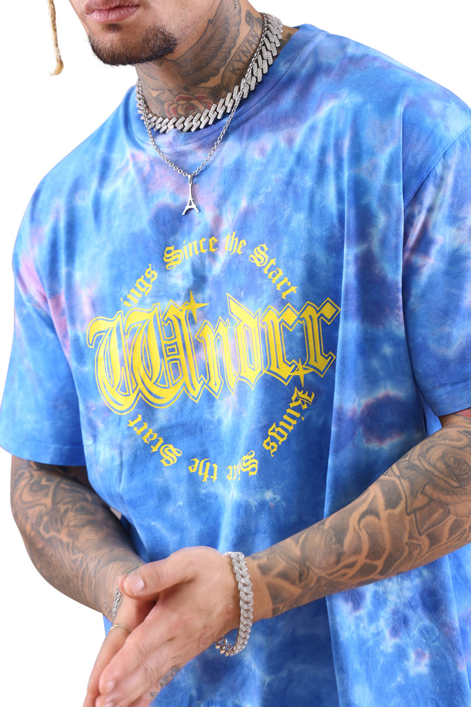 WNDRR Steel Tie Dye Custom Fit Tee Blue Detail