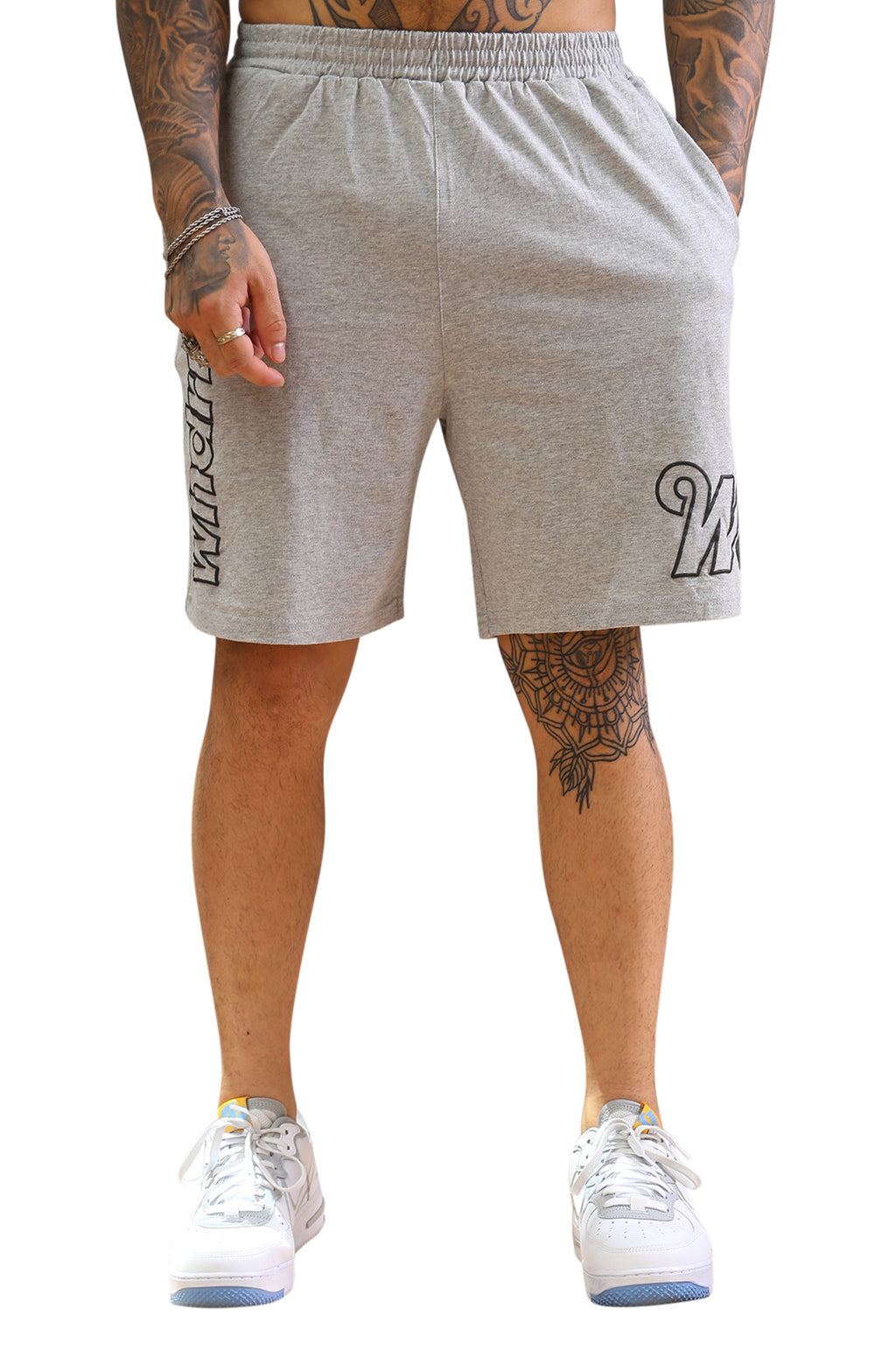 WNDRR Blockshot Track Short Grey Marle