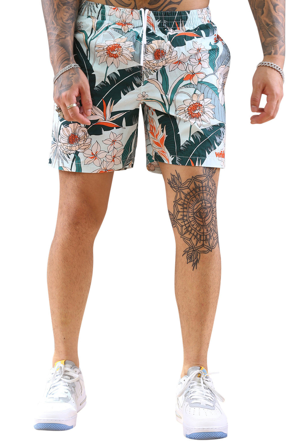 WNDRR Florida Beach Short White