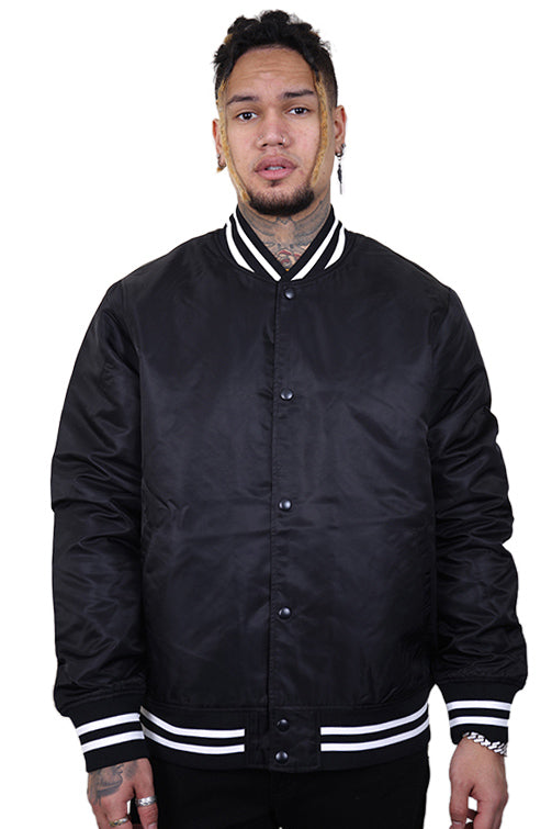 As Colour College Bomber Jacket Black