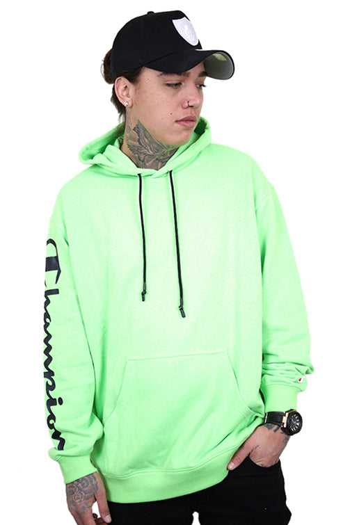 Champion EU Legacy Hoodie Fluro Green Front