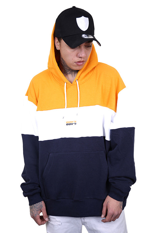 Ilabb Past Future Hood Yellow/Navy Front