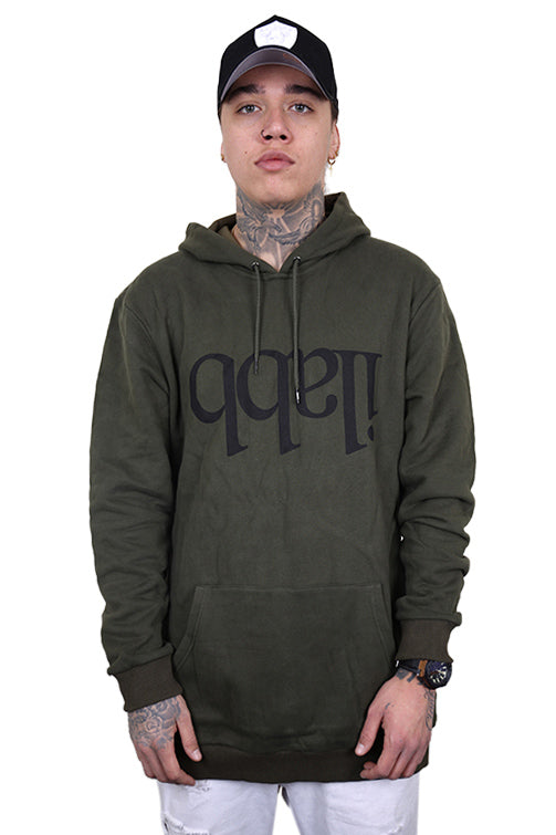 Ilabb Capsize Fleece Hood Army Green Front