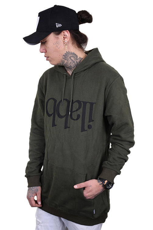 Ilabb Capsize Fleece Hood Army Green Angle