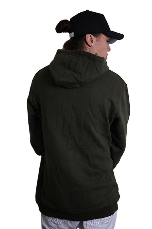 Ilabb Capsize Fleece Hood Army Green Back