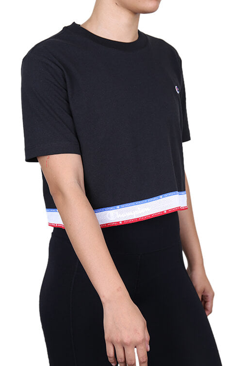 Champion Womens ID Collection Tape Tee Black