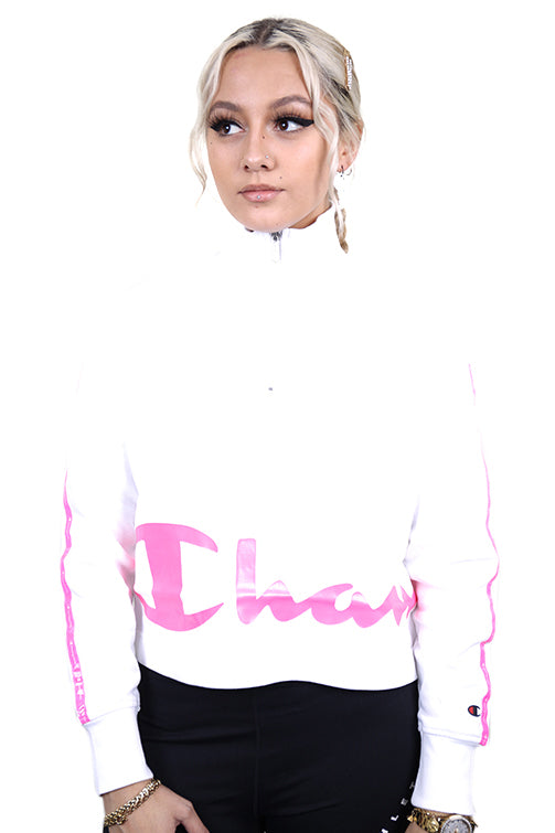 Champion Womens EU Legacy 1/4 Zip White Front
