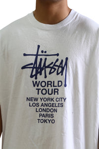 Stussy Solid Tour S/S Tee White