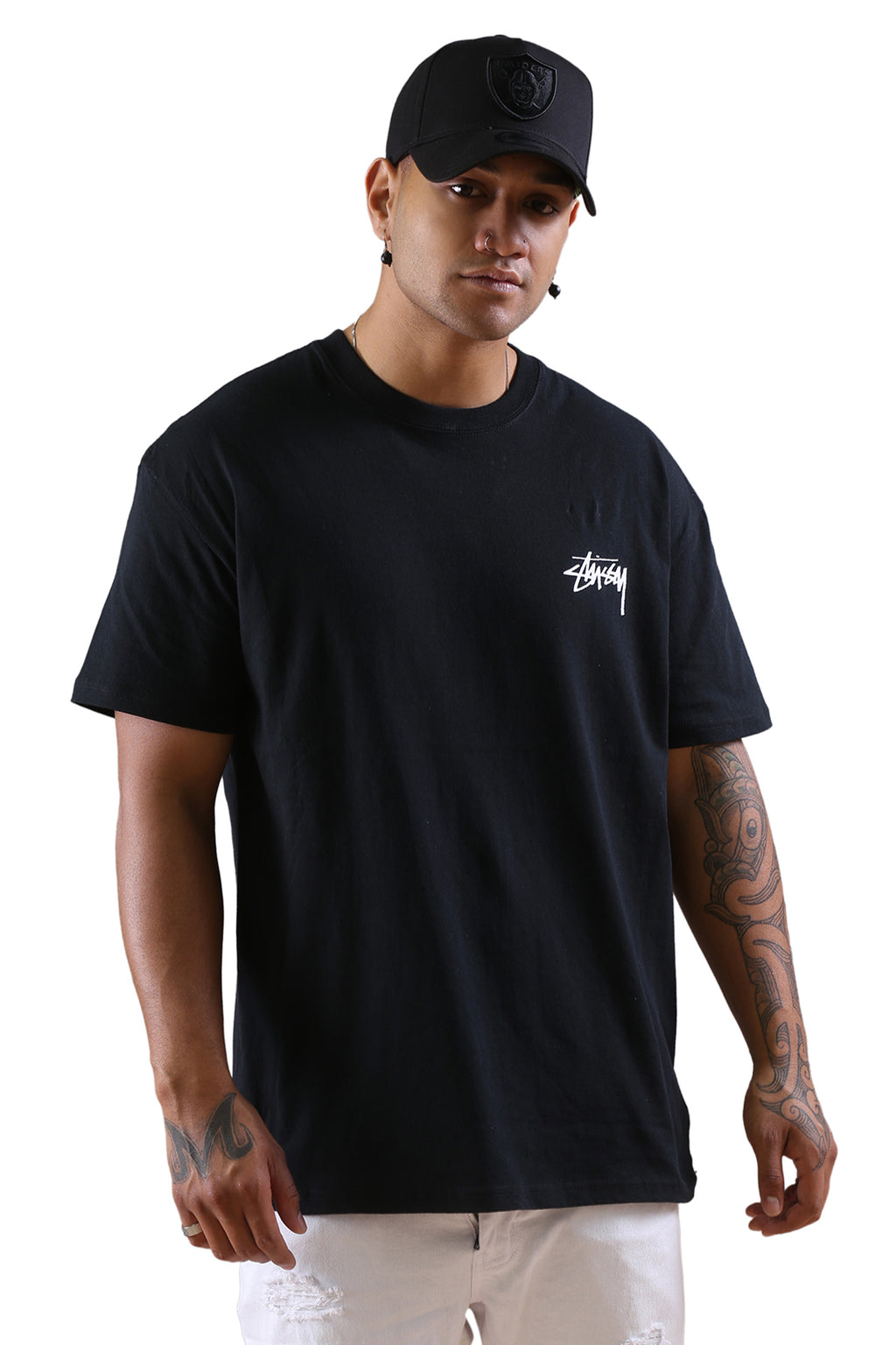 Stussy Say It Loud S/S Tee Black Front