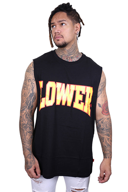 Lower Cornell Cut Tank Black