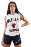 M&N Womens Bulls Locker Room Tank White Marle
