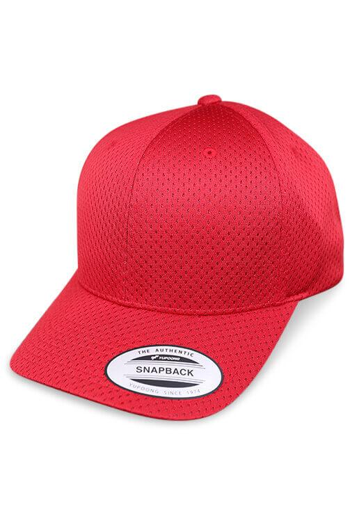 Flexfit Sports Cap Red Snapback Angle