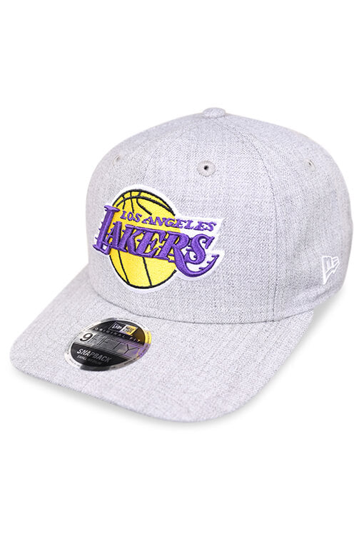 New Era 950 Pre Curved Lakers Heather Grey Snapback