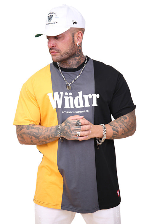 WNDRR Exposed 3 Panel Custom Fit Tee Multi Front