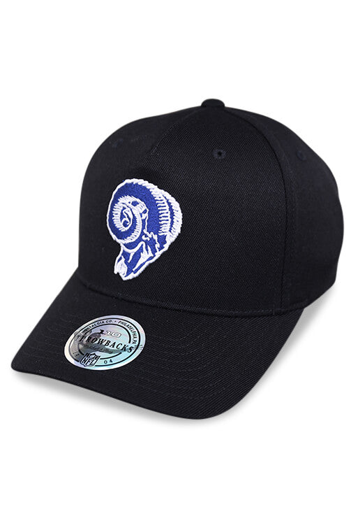 M&N 110 LA Rams Black/Team Colour Logo Snapback