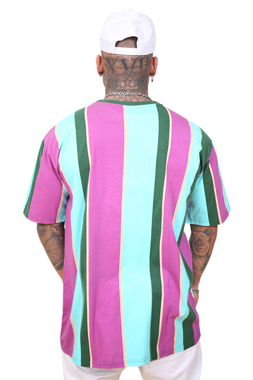 WNDRR Facts Vert Stripe Custom Fit Tee Multi Back