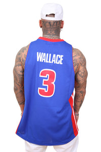 M&N Wallace Pistons 03-04 Road Swing Jersey Back