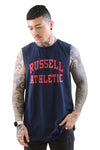 Russell Athletic Arch Logo Muscle Navy