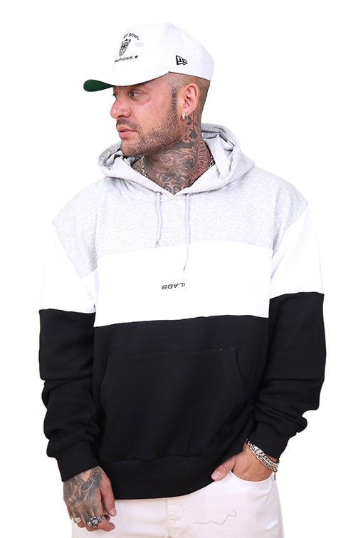 Ilabb Past Future Hood Black/White/Grey Front