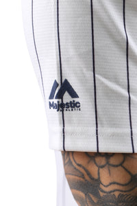 Majestic NY Chest Logo Replica Jersey Stripe White Detail 2