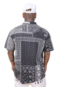 WNDRR Mosaic S/S Shirt Black/White Back