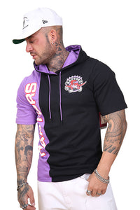 M&N Raptors Shortsleeve Split Hoody Black/Purple Angle