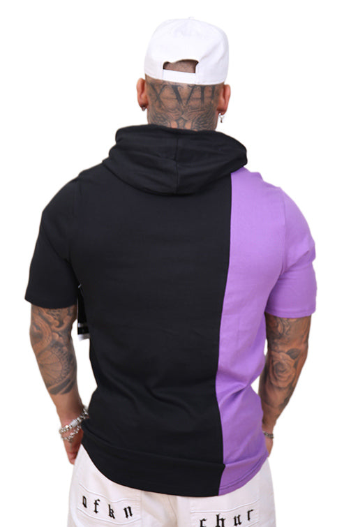 M&N Raptors Shortsleeve Split Hoody Black/Purple Back