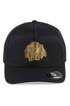 Majestic Blackhawks NHL Gold Enamel Crest Black Snapback