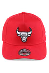 New Era Youth 940 A Frame Bulls Scarlet/Grey Snapback