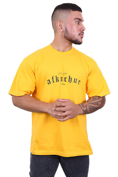 AFKNCHUR Pro Club Lifestyle Tee Deep Yellow
