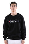 Champion Sporty Graphic Crew Black