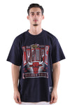 M&N Bulls Vintage Winner Takes All Tee Faded Black Front