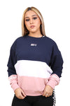 Ilabb Womens Triple Crew White/Navy/Pink