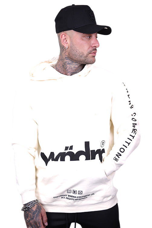 WNDRR Guerrilla Hood Sweat Off White Front