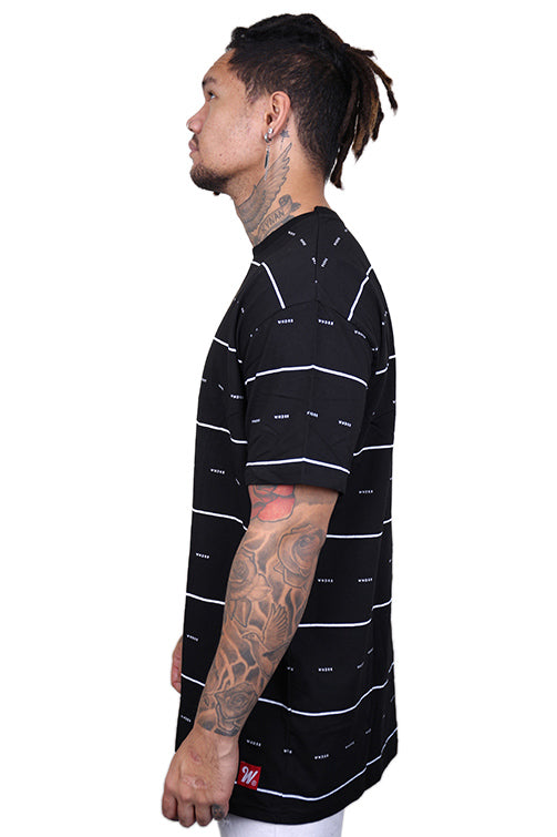 WNDRR Exposure Stripe Tee Black/White Angle