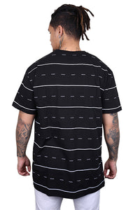 WNDRR Exposure Stripe Tee Black/White Back