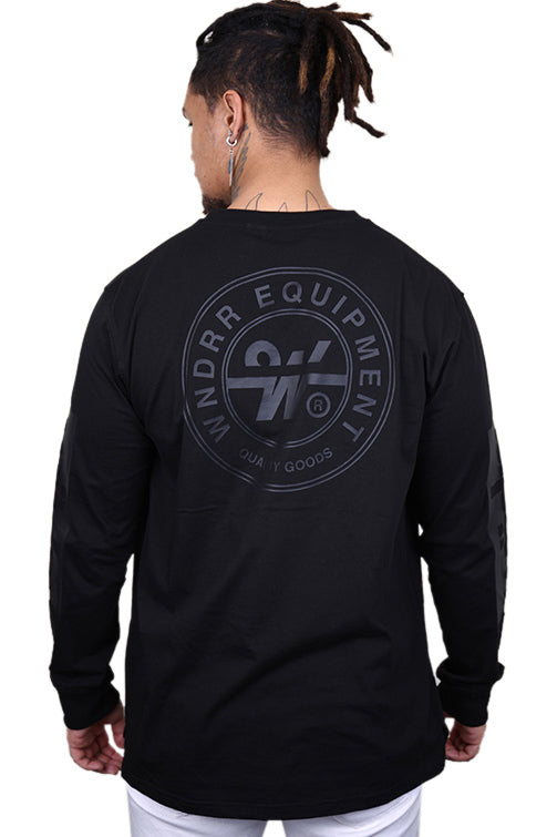 WNDRR Clutch L/S Tee Black Back