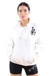 Majestic Womens LA The Duke Hoody Cool White Front